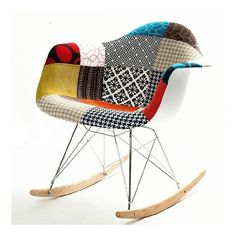 Amazon.com: Patterned Rocker Arm Chair in Multi Colored: Kitchen & Dining