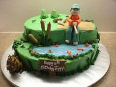 30 Ideas Birthday Decorations For Men Dads Fishing Cakes For 2019 Pear And Almond Cake, Almond Cakes, Fisherman Cake, Fish Cake Birthday, 16th Birthday, Birthday Cakes For Dad, Cupcake Cakes, Cupcakes, Dad Cake