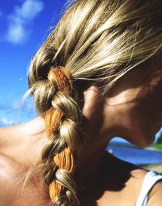 Scarf braided in your hair. j