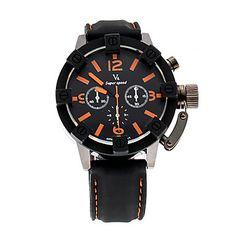 V6 ORKIAN SHAOPENG Black Leather Men Quartz Sport Waterpoof Wristwatch V60021 – GBP £ 6.69