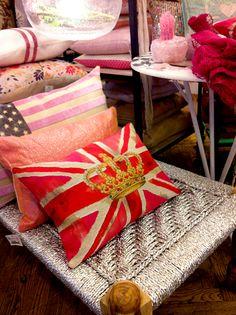 decor, anglophil, pillow, london, almofada, crown, cushion, british invas, union jack