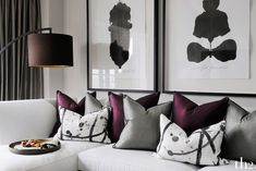 28.10.15. Grey, purple and white - creating an elegant combination of colours for your living area. Beaufort Park. th2designs ©