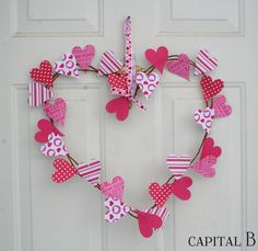 Capital B: Lovin' this Valentine Wreath
