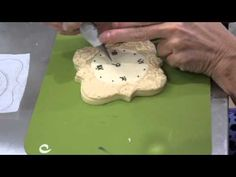 How to Pipe Royal Icing String Work on a Sugar Cookie