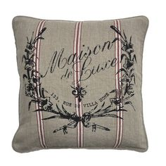 Villa Home Maison de Luxe Linen Crush Accent Pillow
