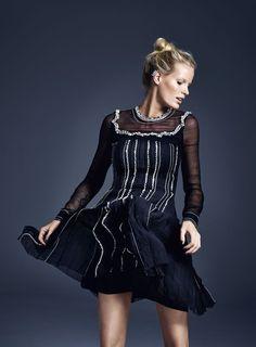 Red Magazine December issue   Caroline Winberg wearing Prada   Photograph: Chris Craymer   Styling: Alexandra Stedman