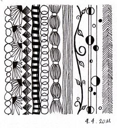 No technically a Zentangle, but some great ideas for lines.