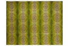 8'x10' Kadeer Rug, Lime/Maroon on OneKingsLane.com