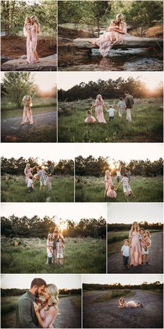 How to match and coordinate outfits for family photos Muted spring family session Family Portrait Poses, Family Picture Poses, Family Picture Outfits, Family Photo Sessions, Family Posing, Large Family Photo Shoot Ideas Group Poses, Mini Sessions, Outdoor Family Pictures, Spring Family Pictures