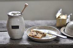 Rustic Honey Pot in Ivory via Etsy.