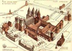 Abbaye de Cluny  Art roman de bourgogne France