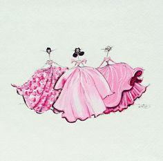 #pink dress #long dress