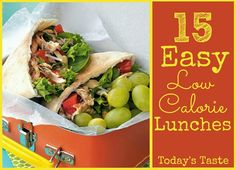 15 Easy Low Calorie Lunches that will help you meet your calorie goal from TodaysTaste.com #lunch #healthylunch