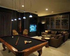 Game Room Basement, Man Cave Basement, Garage Game Rooms, Basement Bathroom, Garage Bar, Basement Bars, Bathroom Small, Garage Man Caves, Open Basement