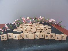 Vintage Scrabble Fliesen 100 Stücke 1980er von MagellansBellyStudio