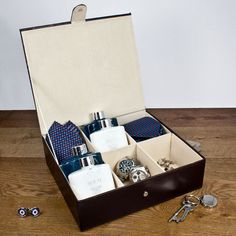 This travel box is the perfect addition for any modern man on the move! #prezzybox #fathersday #gifts