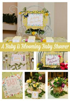 A Baby is Blooming flower themed baby shower ideas - Pretty My Party