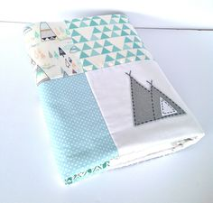 Indian summer range is here..be the latest to embrace this super cool look for your little boys room.Be the first to create your Indian nurserywith our Indian Summer patchwork quilt featuring the hand stitched teepee design. *The quilt measures approx 95cm x 125cm Alphabet Monkey quilts allow the nostalgia of patchwork to fit seamlessly into todays contemporary nursery. Our quilts have been seen on Babyology(AU) , Apartment Therapy(USA) , Decor8 (EUR)* 100% natural c...