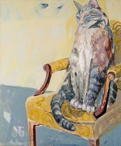 "Saatchi Art Artist Irene Niepel; Painting, ""Huge Cat"" #art"