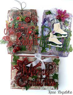 Christmas cards / Fabscraps - Scrapbook.com