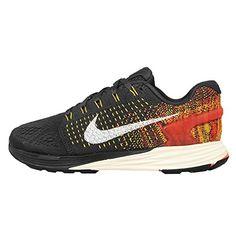 Nike Unisex-Erwachsene Wmns Lunarglide 7 Laufschuhe, Grau (Anthrazit / Sl-Tr Yllw-Hypr Orng), 44.5 EU - Sportschuhe für frauen (*Partner-Link)