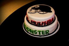 "Customized Metal Mulisha / Monster Energy Wedding cake. Sent in by Barbra O. ""Grooms cake for wedding :)"""