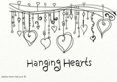 Wacom Doodle for Hanging Hearts Challenge #dndchallenge #zenspiration #doodle