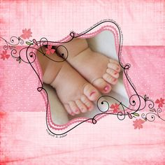 baby feet.....love those pink little toes