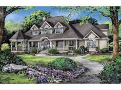 Victorian House Plan with 2512 Square Feet and 4 Bedrooms(s) from Dream Home Source | House Plan Code DHSW67460