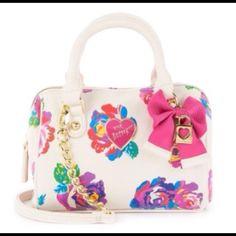 Betsey Johnson handbag SALE!! MUST GO PURSE adorable Betsey Johnson crossbody. Floral design, perfect summer bag  Betsey Johnson Bags