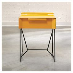 Soft Modern End Table in Yellow
