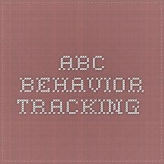ABC behavior tracking