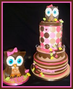 owl first birthday by Cakes By Roselyn, via Flickr
