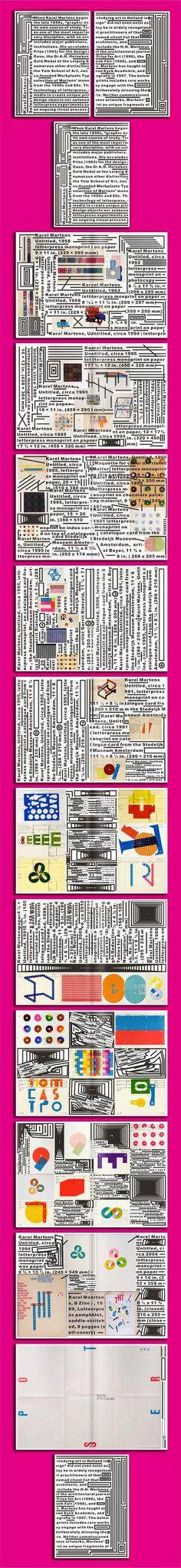 Jiyun Lou, Karel Martens, selected letterpress work •