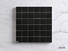 MSCB4803CW GLAZED PORCELAIN MOSAIC - MATT BLACK Mosaic Tiles, Wall Tiles, Mosaics, Porcelain Black, Sheet Sizes, Glaze, Tile Floor, Mosaic Pieces, Room Tiles