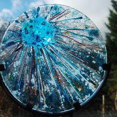 Blue Orb starburst | glass fusing