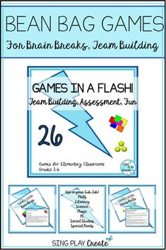 Quick and Easy to play Games for Team Building, or Assessment in all elementary Classrooms with Math, Literacy, Social Studies, Science, P.E., Special Needs and Music adaptability. Best for 2-6 #specialeducation #teambuilding #physicaleducation #games #music