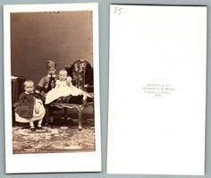 Patrice, Eugène et Emmanuel de Mac Mahon    #CDV #portraits #Familles_Royales_et_Impériale