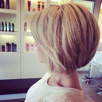 back view of cute short sassy haircut