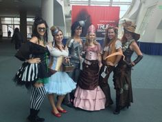 Steampunk Wizard of Oz group costumes. This group also did a Post-apocalyptic Disney Princess, and Star Wars Superhero costumes.