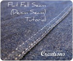 "Denim Skirt Seam. Also useful if you ever took McCall's up on their ""Recreate Your Dream Pants"" tutorial."
