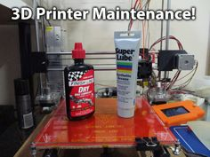 Hi, i made a short video on how i maintain my 3d printer prusa i3. This usually helps with hopping on axis and noise issues. the products i have used are listed below. Hope you enjoyed this video!!   Finish Line Dry Bike Lubericant Super Lube Synthetic Grease  SinfoniaSame @ https://www.youtube.com/user/SinfoniaSam   Tweet me: @ http://twitter.com/don_novations instagram: @ http://instagram.com/donnovations