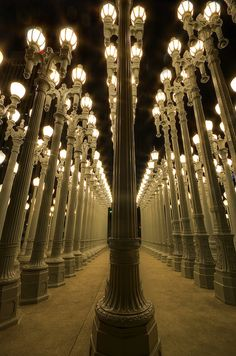 """""""Urban Light"""" at LACMA --- Only because its in no strings attached.."""