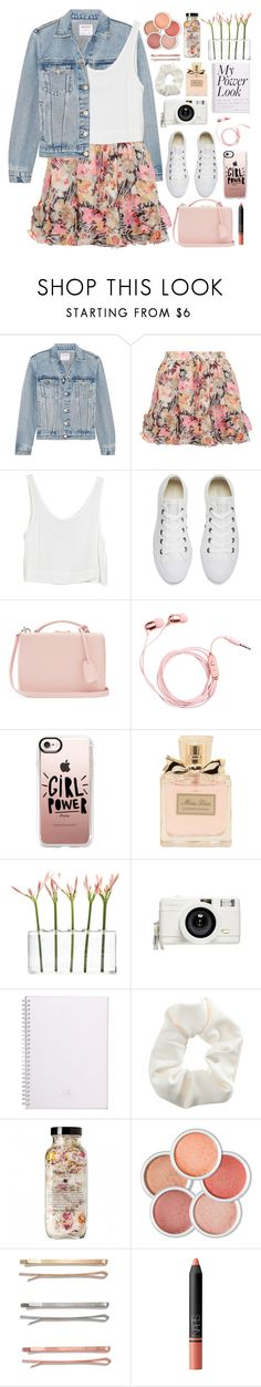 """2602. What's Your Power Look?"" by chocolatepumma ❤ liked on Polyvore featuring Frame, Elizabeth and James, MINKPINK, Converse, Mark Cross, Casetify, Christian Dior, Dot & Bo, Lomography and Topshop"