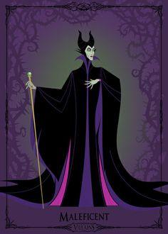 Villains Trading Card - Maleficent Art Print