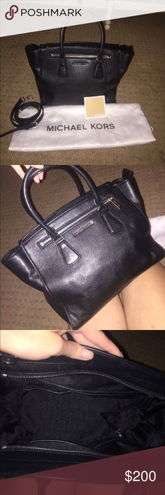 Michael Kors genuine leather tote Very good condition. Only used a handful of times. Genuine leather. Expecting a baby and could really use the extra money:) comes with original dustbag and shoulder strap. Michael Kors Bags Totes