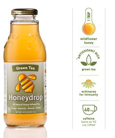 Honeydrop teas and juices - your purchase helps to support beekeepers.