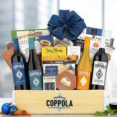 Wine Gift Baskets - Coppola Business Gourmet Wine Basket