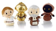 "These ""Star Wars"" toys from Hallmark go for the cute, cuddly look."