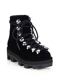 639a1211c8c Alexander Wang - Sam Velvet Combat Boots